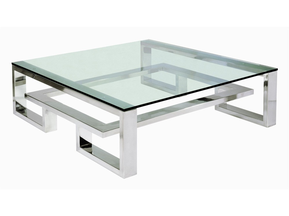 Modern Metal Coffee Table Table And Estate perfectly within Metal Square Coffee Tables (Image 13 of 20)