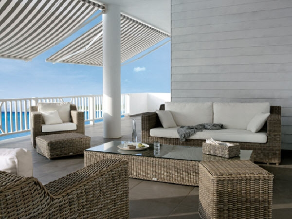 Modern Patio Furniture Round Rattan Sofa Set Omr F155 Omier definitely throughout Modern Rattan Sofas (Image 6 of 20)