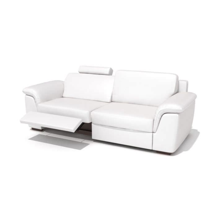 Modern Reclining Leather Sofa 3d Model clearly intended for Modern Reclining Leather Sofas (Image 13 of 20)