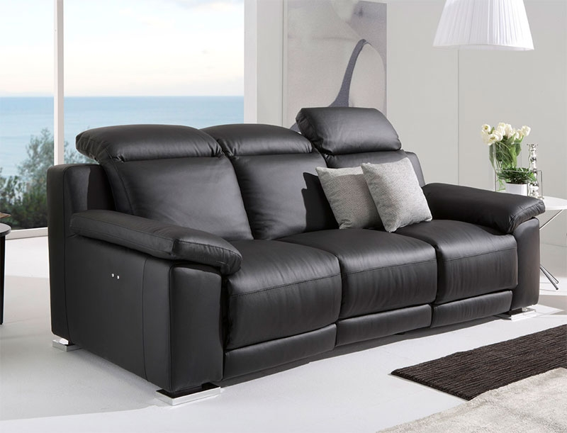Modern Reclining Sofa well with Modern Reclining Leather Sofas (Image 14 of 20)