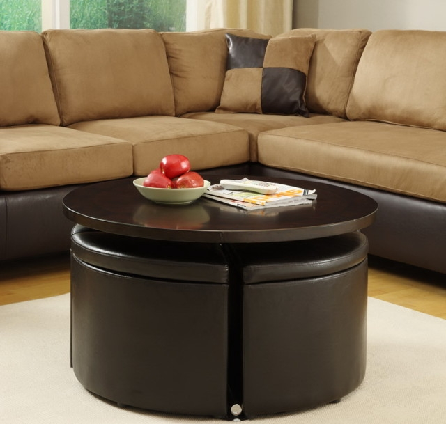 Modern Round Coffee Table With Storage Coffee Tables And End very well with regard to Round Coffee Tables With Storages (Image 14 of 20)