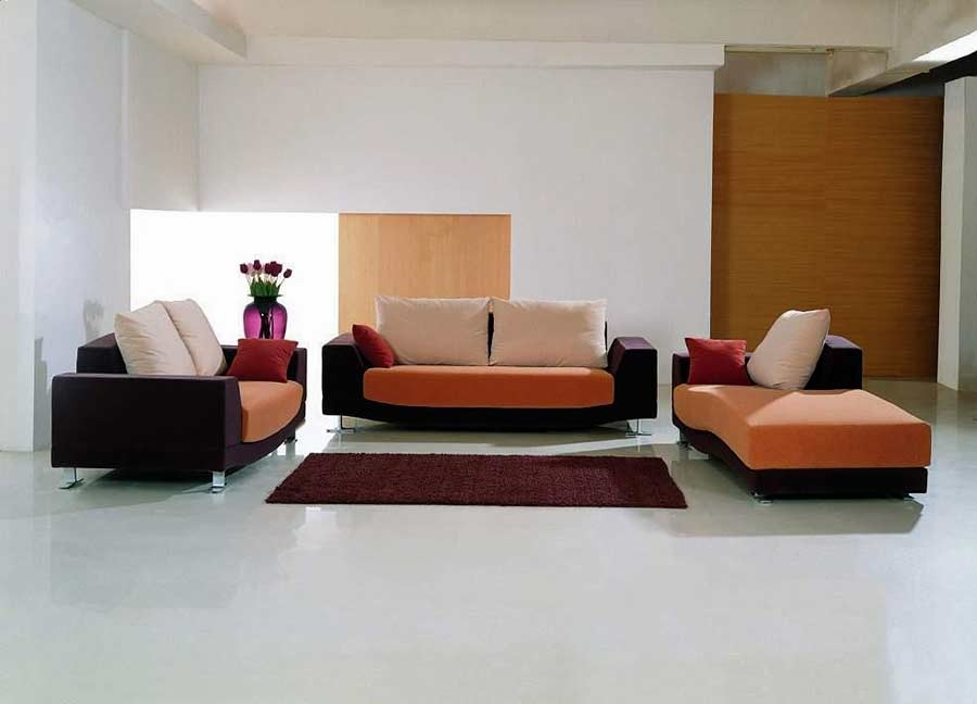 Modern Sofa Set With Chaise Vg 11a Fabric Sofas perfectly with regard to Contemporary Sofas and Chairs (Image 14 of 20)