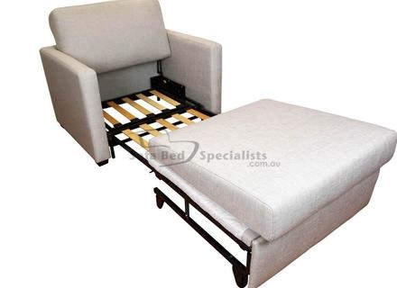 Modern Style Convertable Single Chairsofa Bed In Charcoal 37559 Most Certainly Throughout Single Chair Sofa Bed (View 9 of 20)
