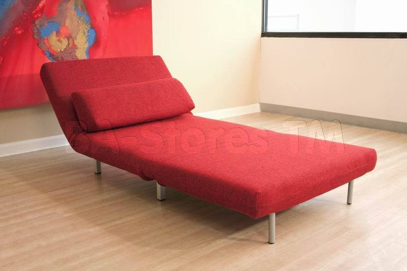 Modern Style Convertable Single Chairsofa Bed In Red Chairs effectively with regard to Single Chair Sofa Bed (Image 10 of 20)