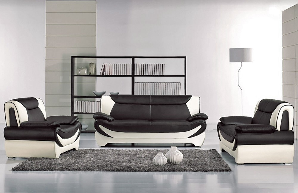Modern Style Two Tone Sofa Set clearly regarding Two Tone Sofas (Image 13 of 20)