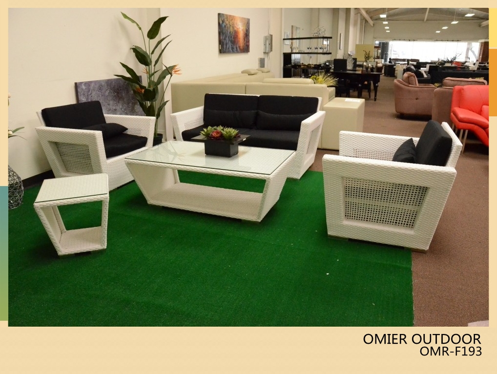 Modern White Wicker Rattan Sofas Outdoor Furniture Omr F193 Well Intended For Modern Rattan Sofas (View 4 of 20)