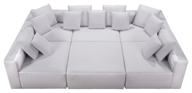 Modular Miami Bonded Leather Contemporary Sectional Sofas very well in 6 Piece Leather Sectional Sofa (Image 6 of 20)