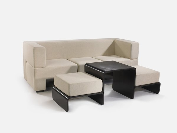 Modular Sofa Coffee Table And Footrest In One Furniture Slot Well Pertaining To Coffee Table Footrests (View 14 of 20)