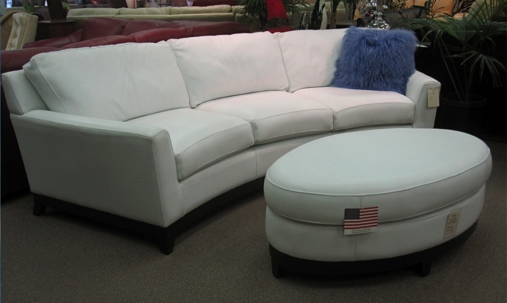 Monaco Curved Sofa Oval Ottoman Valley Leather very well with regard to Oval Sofas (Image 6 of 20)