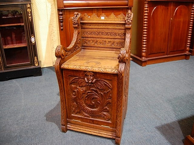 Monks Chaircoal Box Late 19th Decorative Arts Auction perfectly regarding Monk Chairs (Image 13 of 20)