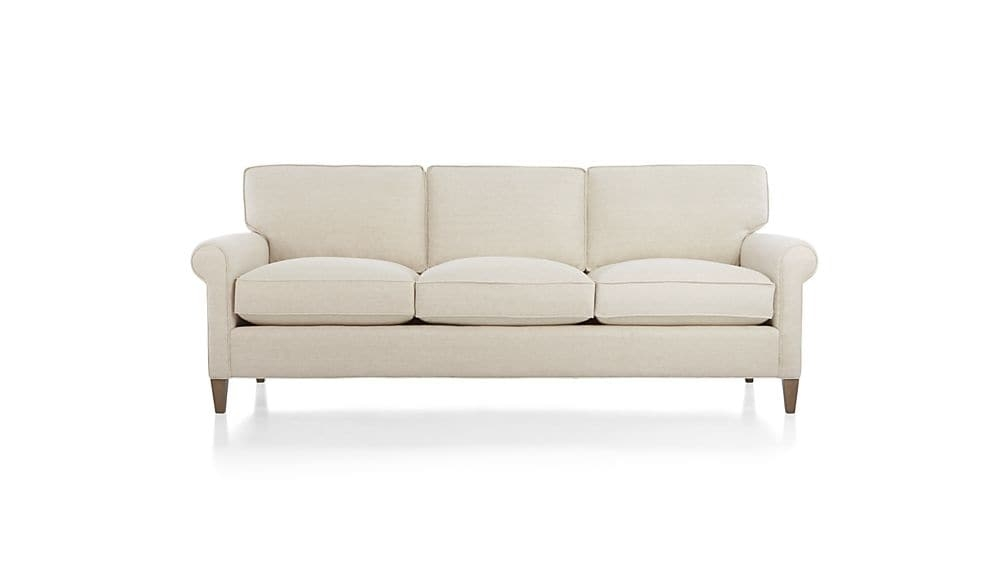 Montclair 3 Seater Sofa Crate And Barrel Most Certainly Pertaining To Three Seater Sofas (View 7 of 20)