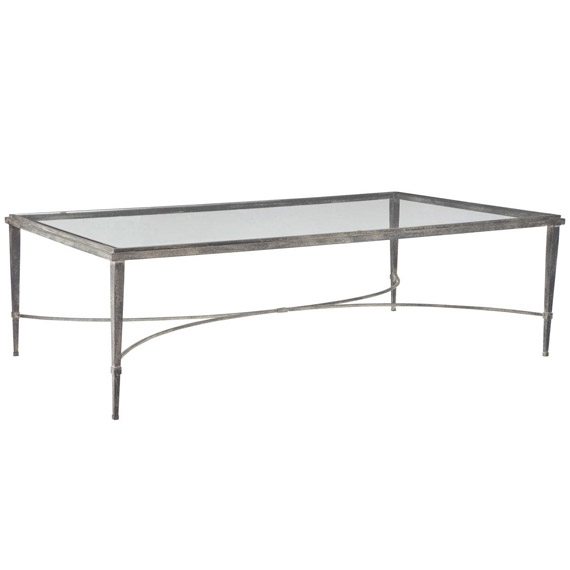 Monticello Metal Glass Coffee Table Oka good pertaining to Metal And Glass Coffee Tables (Image 14 of 20)