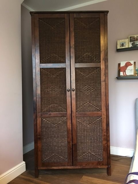 Morocco Style Dark Wood Wardrobe In Ealing London Gumtree definitely in Dark Wood Wardrobes (Image 15 of 20)
