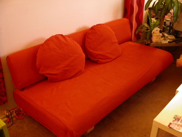 Moving Sale Definitely For Orange IKEA Sofas (View 15 of 20)