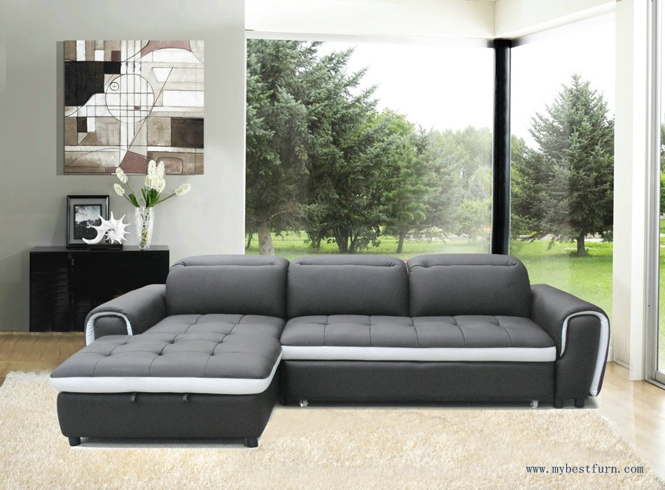 Multi Functional Genuine Leather Sofa L Shaped Leather Sofa Bed Most Certainly With L Shaped Sofa Bed (View 18 of 20)