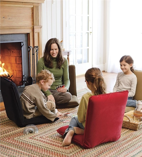 Multiangle Floor Chair Chairs Rockers Plow Hearth very well intended for Comfortable Floor Seating (Image 18 of 20)