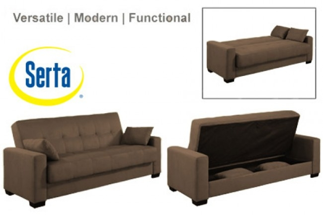 Napa Contemporary Sleeper Futon Bed Brown Sleeper Sofa The good for Convertible Sofa Chair Bed (Image 19 of 20)