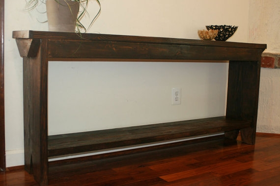 Narrow Hall Console Table Sofa Table Or Entry Table Mid Century certainly intended for Narrow Sofa Tables (Image 9 of 20)