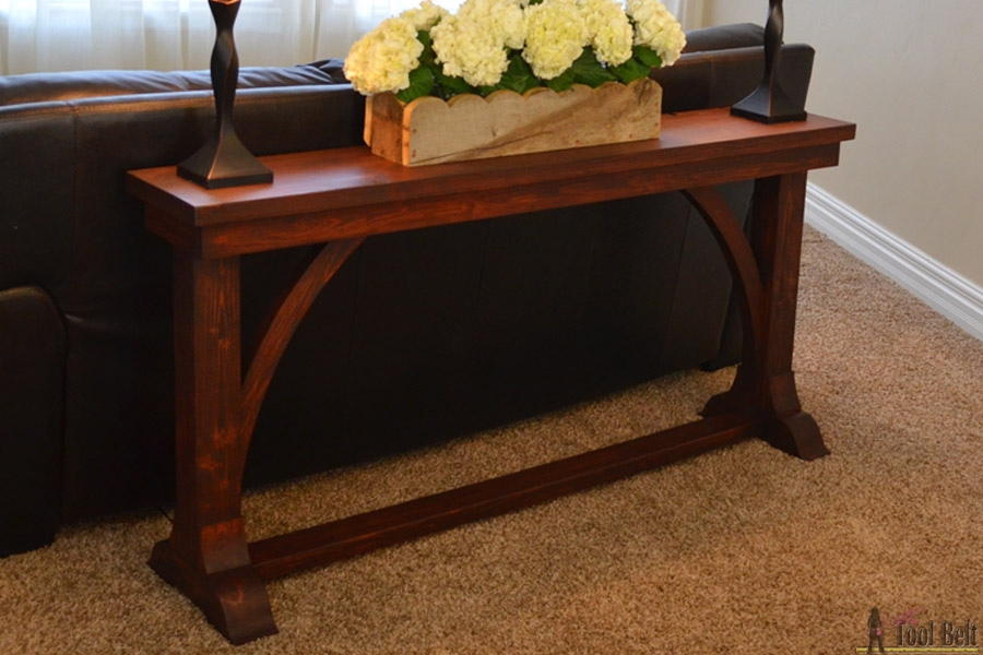 Narrow Sofa Table Her Tool Belt most certainly inside Narrow Sofa Tables (Image 11 of 20)