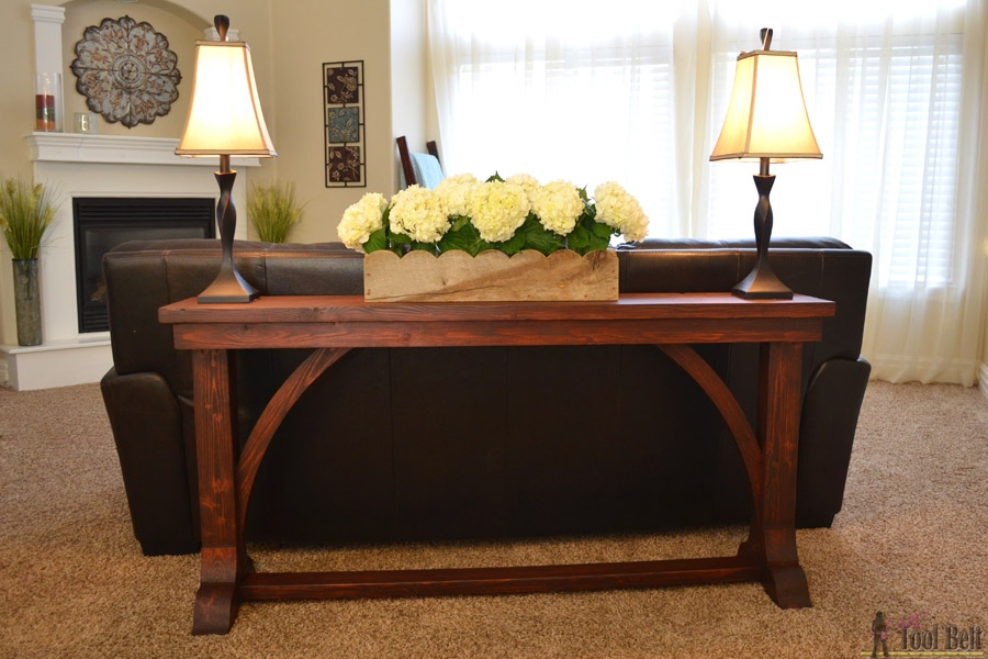 Narrow Sofa Table Her Tool Belt nicely inside Narrow Sofa Tables (Image 12 of 20)