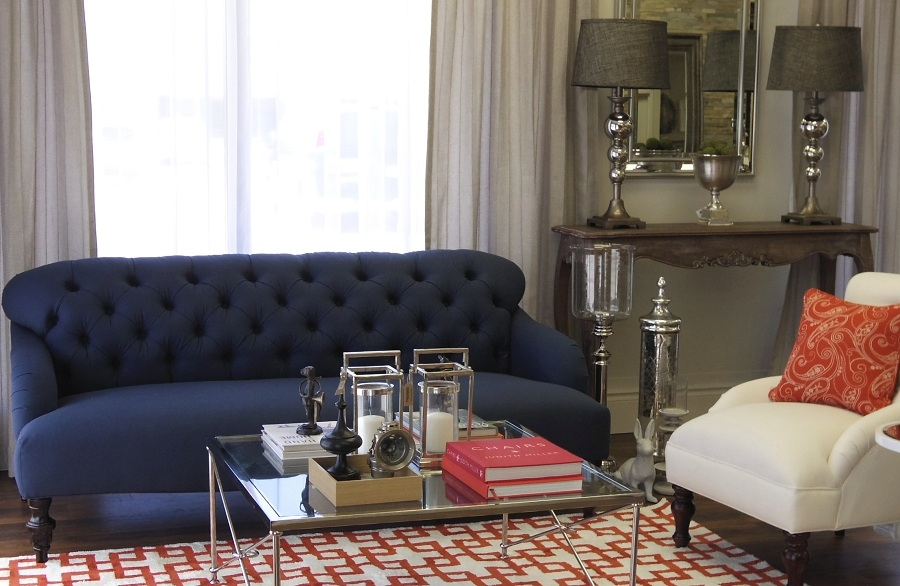Navy Blue Couch Navy Obsession Cool Down Your Design With Blue Clearly With Regard To Dark Blue Sofas (View 7 of 20)