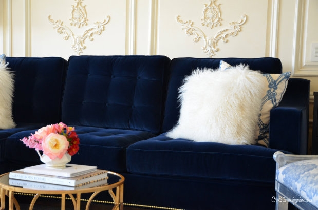 Navy Blue Tufted Sofa Cre8tive Designs Inc good intended for Blue Tufted Sofas (Image 14 of 20)