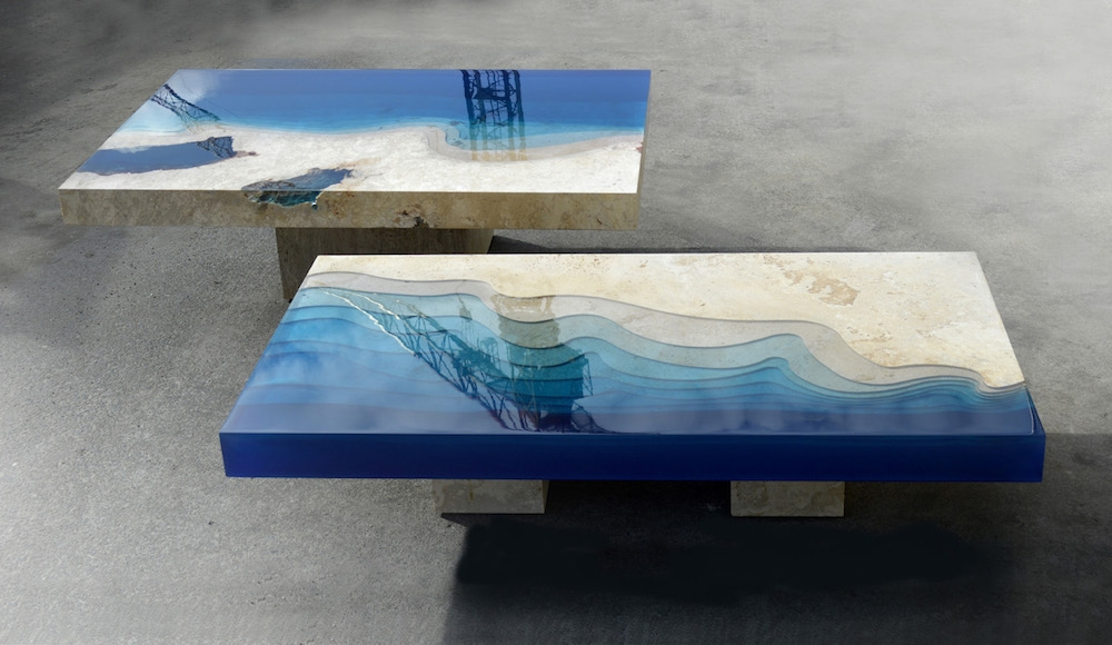 New Marble And Resin Lagoon Coffee Tables Alexandre Chapelin definitely throughout Blue Coffee Tables (Image 17 of 20)