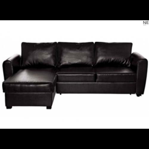 New Siena Fabric Corner Sofa Bed With Storage Charcoal nicely inside Fabric Corner Sofa Bed (Image 16 of 20)