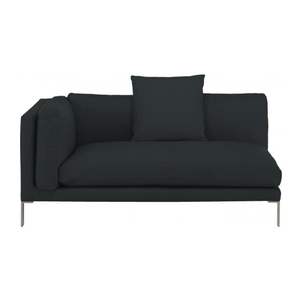 Newman Leather Left Arm 2 Seater Sofa Habitat very well for Black 2 Seater Sofas (Image 16 of 20)