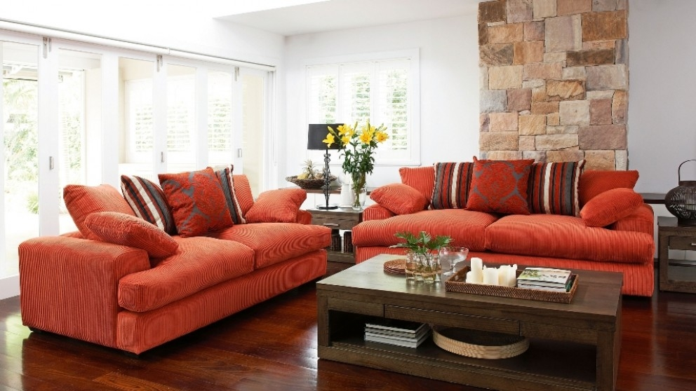 Newport 3 Seater Fabric Sofa Lounges Living Room Furniture very well with regard to Newport Sofas (Image 6 of 20)