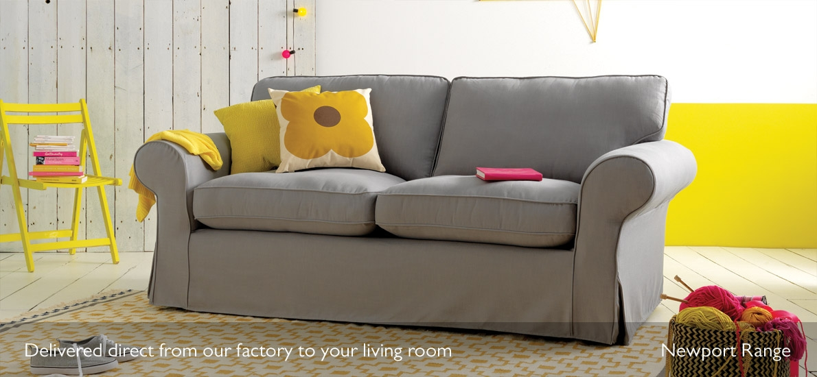 Newport Loose Cover Fabric 2 Seater Sofa Sofasofa Sofasofa Well Within Sofas With Removable Covers (View 12 of 20)