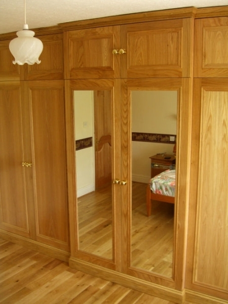 Oak Fitted Bedroom Furniture very well for Solid Wood Fitted Wardrobes (Image 17 of 30)