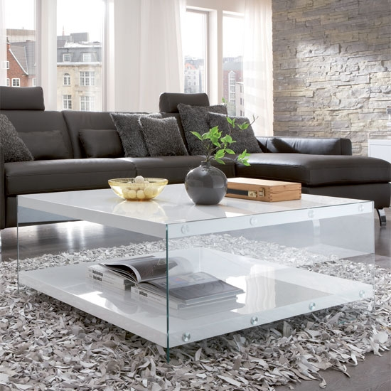 Olymp Coffee Table In High Gloss White With Glass Side Panels definitely inside Quality Coffee Tables (Image 17 of 20)