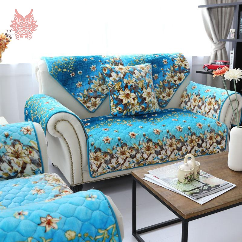 Online Get Cheap Blue Sofa Cover Aliexpress Alibaba Group properly for Turquoise Sofa Covers (Image 11 of 20)