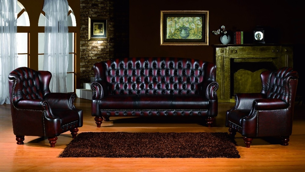 Online Get Cheap Chesterfield Sofa Leather Aliexpress well within Chesterfield Sofas And Chairs (Image 18 of 20)