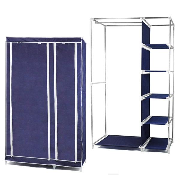Online Get Cheap Clothes Cupboards Aliexpress Alibaba Group effectively in Double Canvas Wardrobe Rail Clothes Storage Cupboard (Image 7 of 20)
