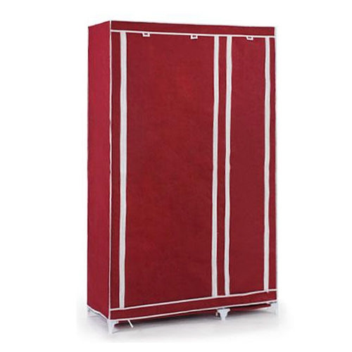 Online Get Cheap Clothes Cupboards Aliexpress Alibaba Group very well within Double Canvas Wardrobe Rail Clothes Storage Cupboard (Image 8 of 20)