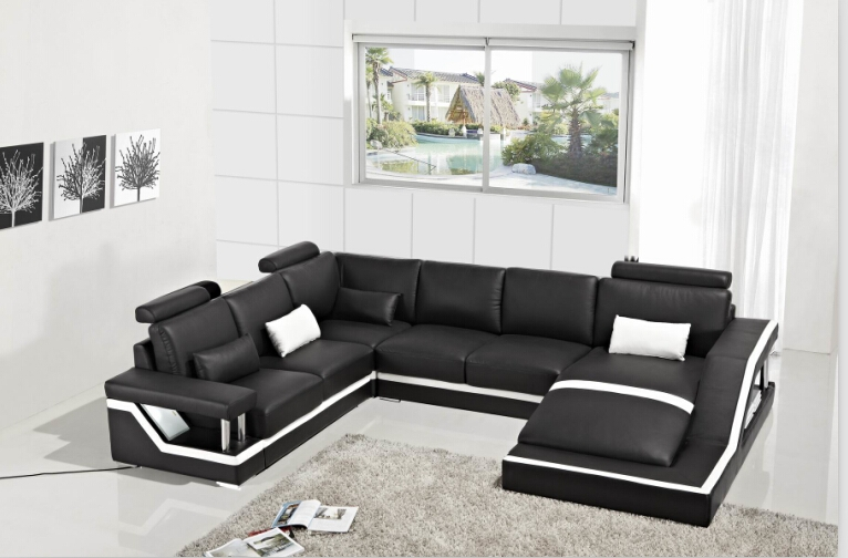 Online Get Cheap Corner Leather Sofas Aliexpress Alibaba Group definitely in Large Black Leather Corner Sofas (Image 17 of 20)