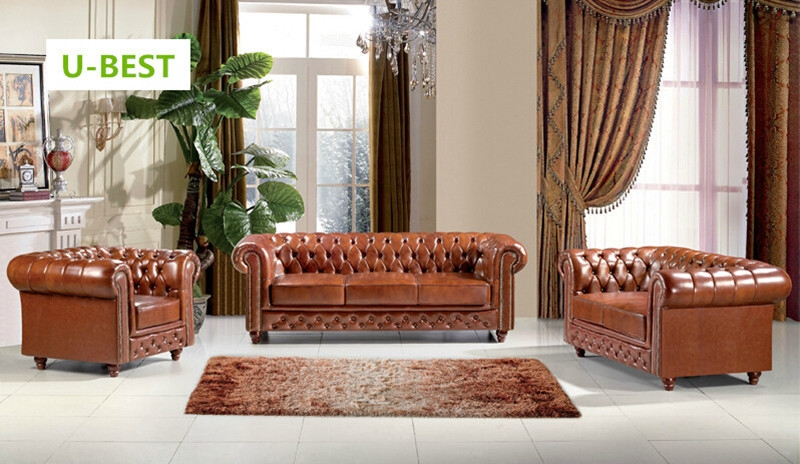 Online Get Cheap Leather Sofa Set Designs Aliexpress effectively with Chesterfield Sofa and Chairs (Image 16 of 20)