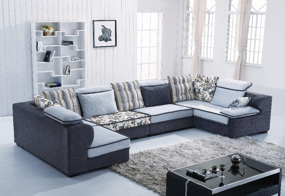 Online Shop Home Australia U Shape Sectional Fabric Sofa B1011 Properly Within L Shaped Fabric Sofas (View 12 of 20)