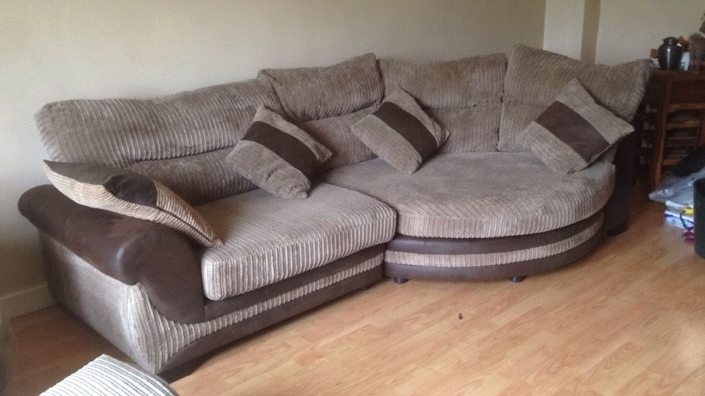 Open To Offers Corner Cuddle Sofa Large Swivel Chair Footstool most certainly for Corner Sofa And Swivel Chairs (Image 19 of 20)