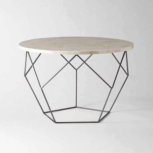 Origami Coffee Table Medium West Elm nicely within C Coffee Tables (Image 18 of 20)