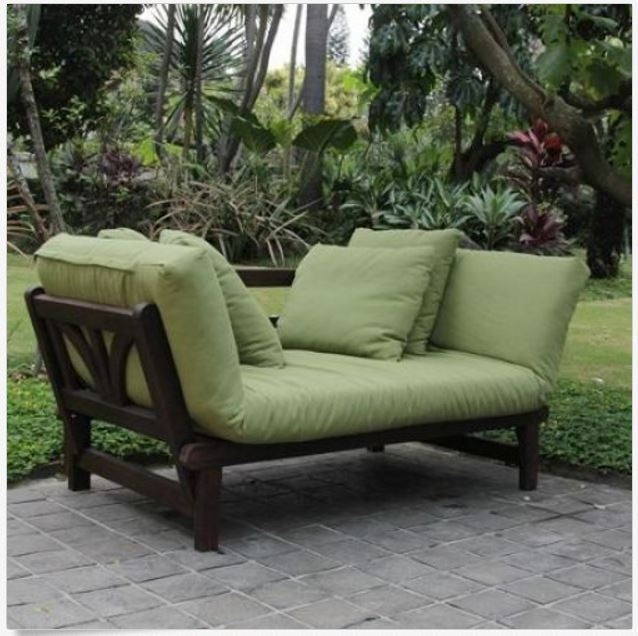Outdoor Convertible Sofa Chaise Bed Sleeper Wood Cushions Yard certainly with Cheap Patio Sofas (Image 11 of 20)