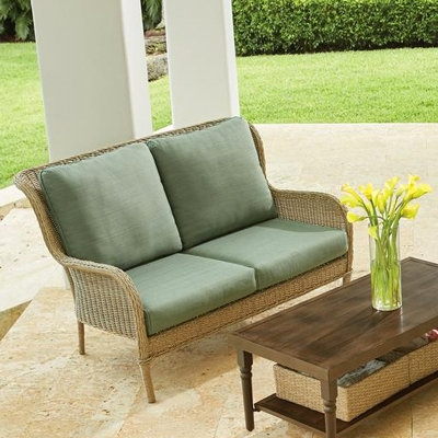 Outdoor Lounge Furniture For Patio The Home Depot very well throughout Outdoor Sofa Chairs (Image 12 of 20)