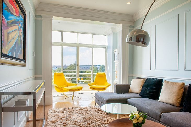 Outstanding Small Chairs For Living Room Bright Yellow Modern certainly regarding Yellow Sofa Chairs (Image 12 of 20)