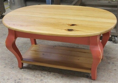 Oval Coffee Table From Reclaimed Pine Perfectly For Pine Coffee Tables (View 11 of 20)