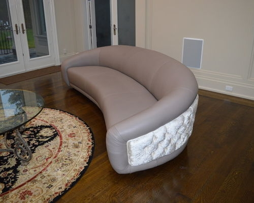 Oval Sofas Leather properly with regard to Oval Sofas (Image 12 of 20)