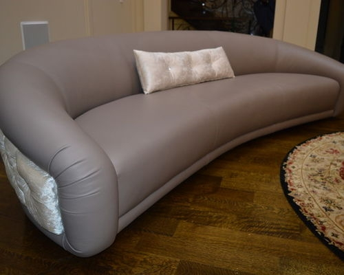 Oval Sofas Leather very well within Oval Sofas (Image 13 of 20)