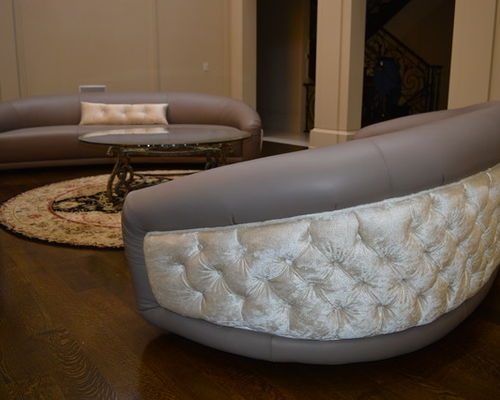 Oval Sofas Leather well regarding Oval Sofas (Image 14 of 20)