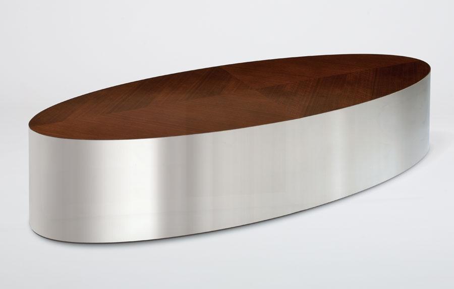 Oval Walnut Coffee Table Idi Design most certainly throughout Oval Walnut Coffee Tables (Image 16 of 20)